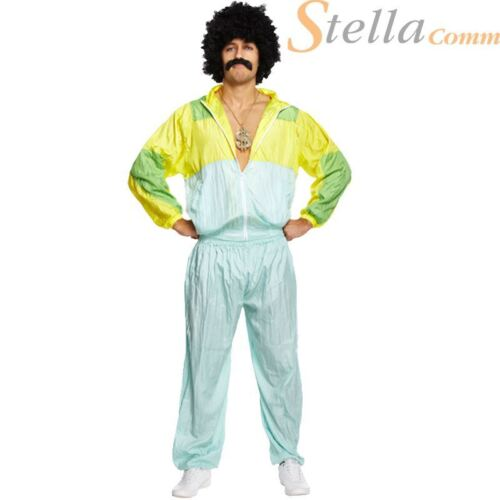 Men/'s Shell Suit 80/'s Scouser Tracksuit Fancy Dress Costumes Stag Do Outfit