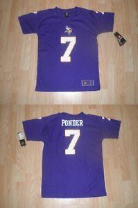 77dfad8db6b4 Youth Minnesota Vikings Christian Ponder L (14 16) NWT NFL Team ...