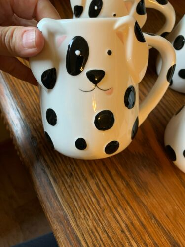 ADORABLE SET OF FOUR NEW TAG DOG COFFEE MUGS WITH FREE SHIPPING
