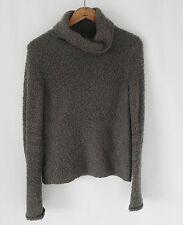 J Crew Turtle Neck Sweater Wool Blend Grey / Brown Slim Fit Textured Size XS