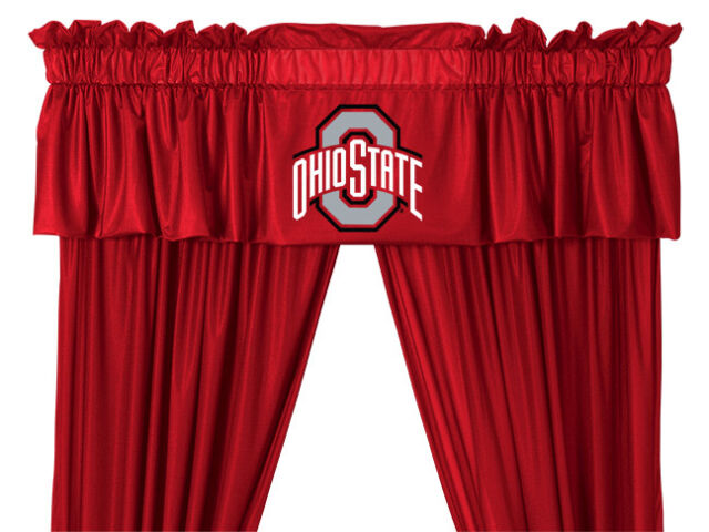 "OHIO STATE BUCKEYES  Valance & 63"" or 84"" Curtain Set"