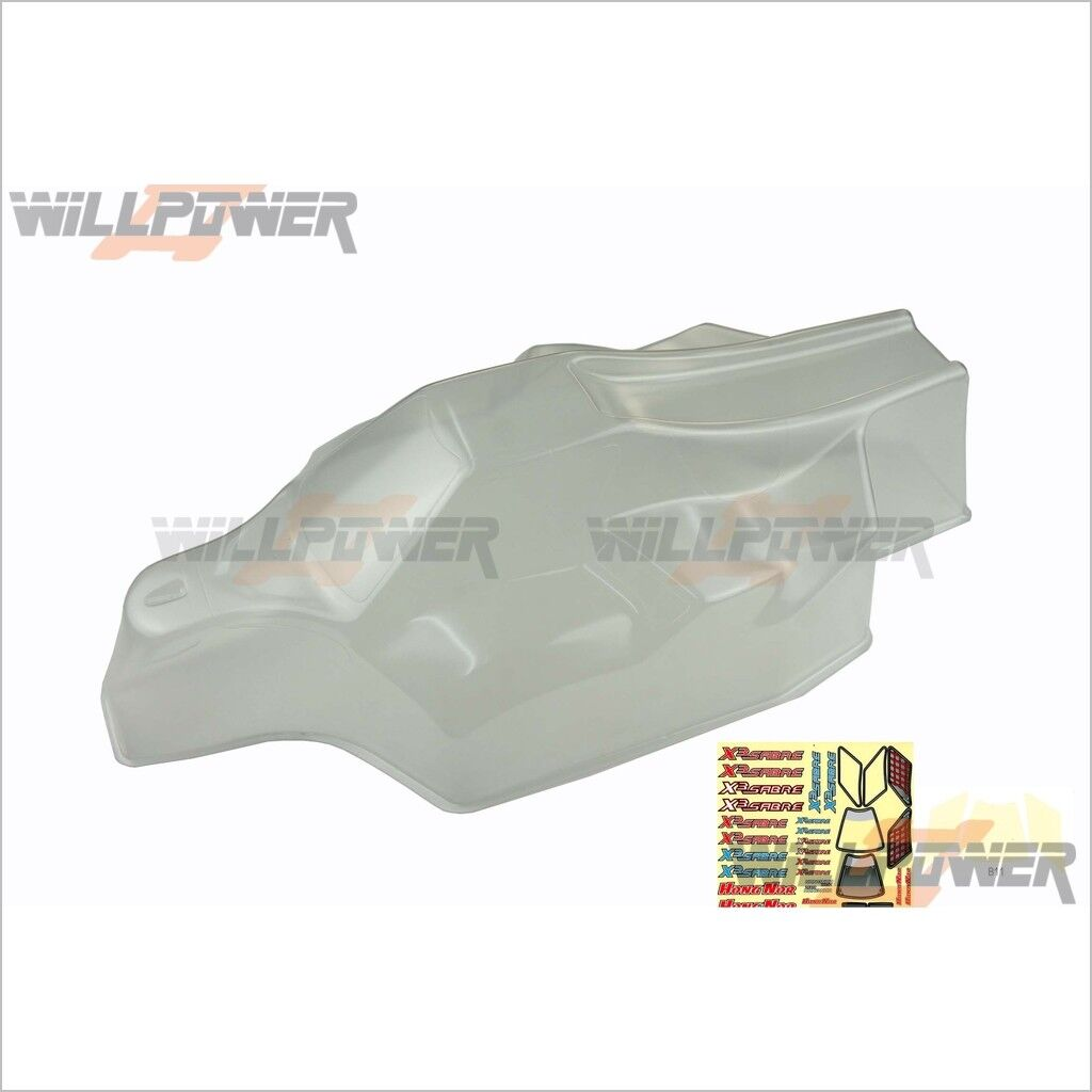 Clear Body Shell Cover  X3-41 (RC-WillPower) HongNor X3 SABRE