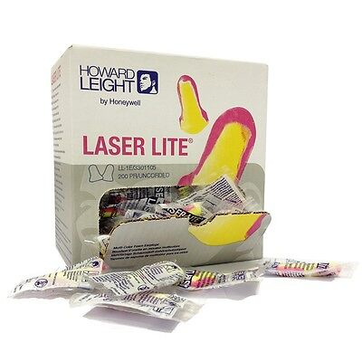 Howard Leight Laser Lite 400 ear plugs 1 bag 200 Pairs