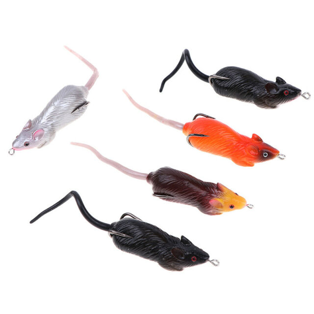 7CM Soft Rubber Mouse Fishing Lures Baits Top Water Tackle Hooks Bass Bait BX