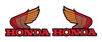 Honda Atc 200x Gas Tank Wing Decals Vintage Motocross