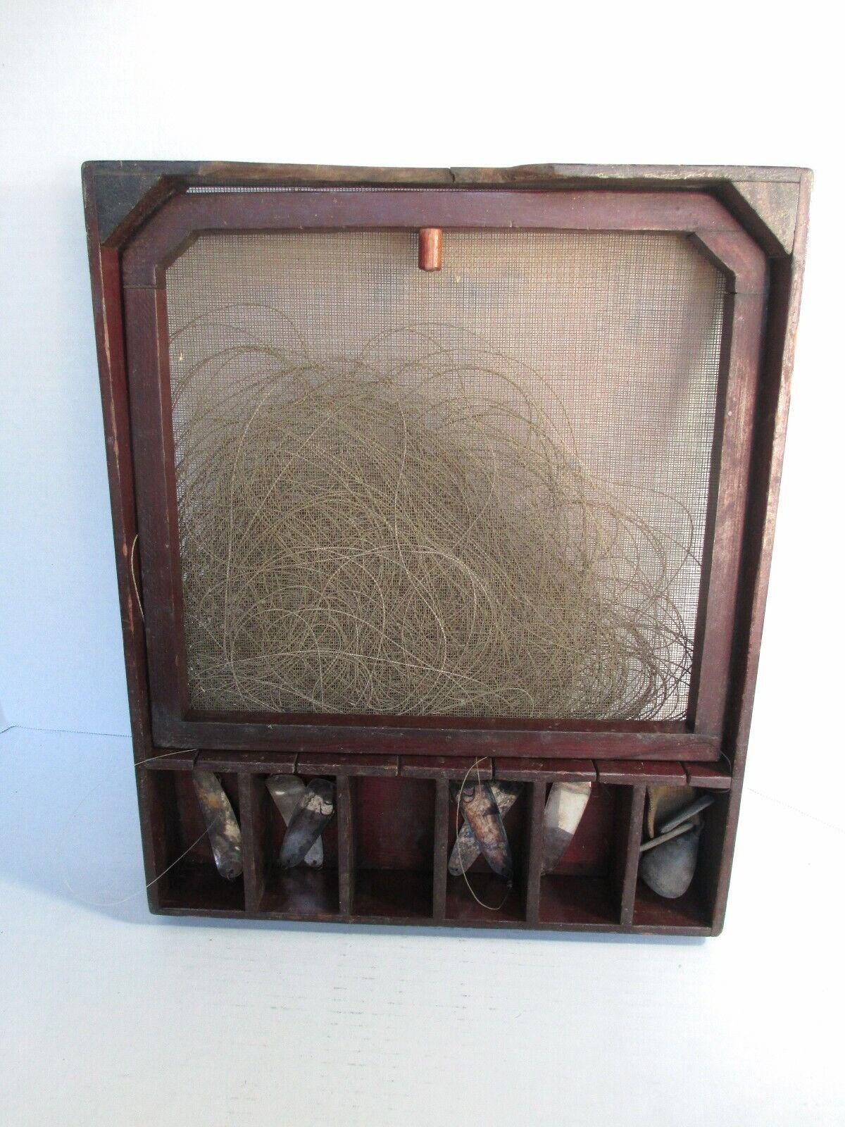 Early Vintage Seth Caja verde Rig NY Pesca Señuelos Sistema