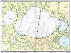 NOAA Chart Lakes Pontchartrain and Maurepas 48th Edition 11369
