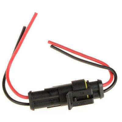 10x 2-Polig Kabel Steckverbinder Auto KFZ Stecker Wasserdicht Schnellverbinder
