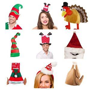CHRISTMAS-HAT-TURKEY-ELF-NOVELTY-XMAS-FUNNY-JOKE-FANCY-DRESS-SECRET-SANTA-GIFT