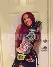 WWE SASHA BANKS HAND SIGNED DIVAS WOMENS CHAMPIONSHIP BELT WITH PROOF