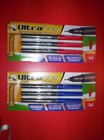 Promarx Ultra Fine Signature Pen Red Ink/blue Inklot Of 2 Packs