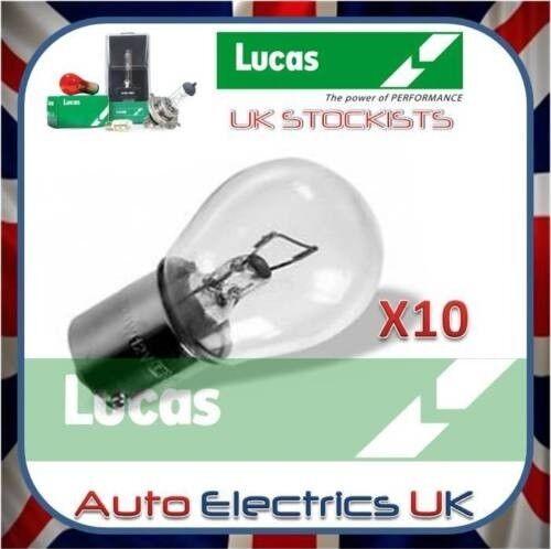 Genuine Lucas LLB382 382 SCC 12v 21W indicator Fog Reverse Brake bulb x 10