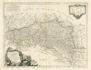 Carte De La Pologne Autrichiene Galicia Poland Santini Homann