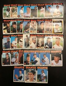 1986-Topps-SAN-FRANCISCO-GIANTS-Complete-Team-Set-w-Traded-WILL-CLARK-RC-34-Crds