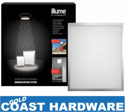 1 of 1 - Illume Skylight -  Shaftless  SOLAR POWERED SYSTEM 400MM SQUARE - SILVER