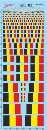 Flaggen Belgien Decal Naßschiebebild Belgian Flags Fahnen NA-BE-01