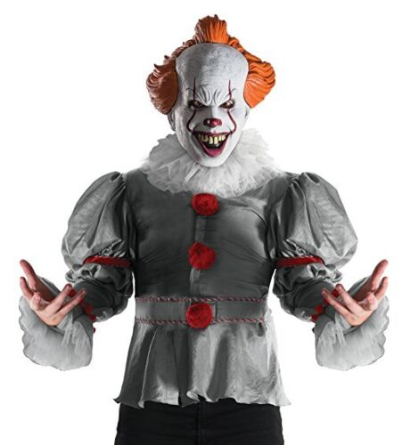 Rubies Deluxe It Movie 2017 Pennywise Adult Mens Clown Halloween Costume 820859