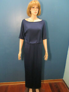 L-navy-blue-unbranded-empire-waist-dress-with-POCKETS