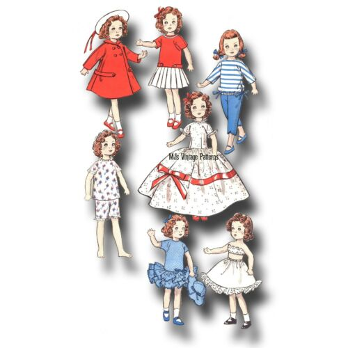 Vintage Doll Dress HUGE WARDROBE Pattern ~ Ginny Muffie Wendy Marcie