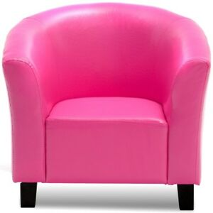 Details about Kid Children PU Leather Bedroom Home Comfort Sofa Armrest  Chair Couch Rose/Black