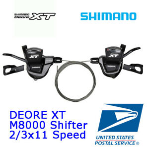 SHIMANO Deore XT SL M8000 shifter left right side trigger 2//3x 11 speed 22//33s