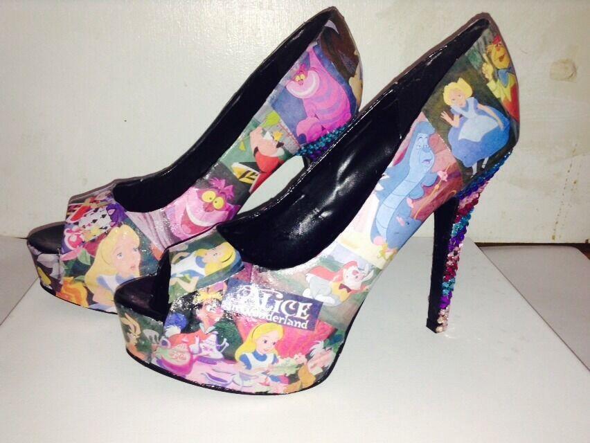 Custom Made Alice In Wonderland Shoes
