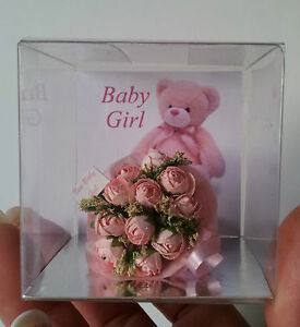 Miniature flower bouquet new baby gift supplied in a transparent image is loading miniature flower bouquet new baby gift supplied in negle Images