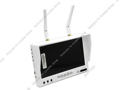 """RC732 FPV 7"""" Monitor 32CH 5.8G Wireless Diversity Receiver DVR Built-in Battery"""