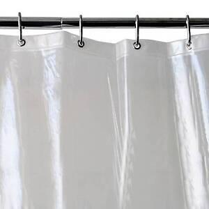 Threshold Shower Curtain Liner Clear Vinyl 54x78 Weighted Hem Mildew Resist