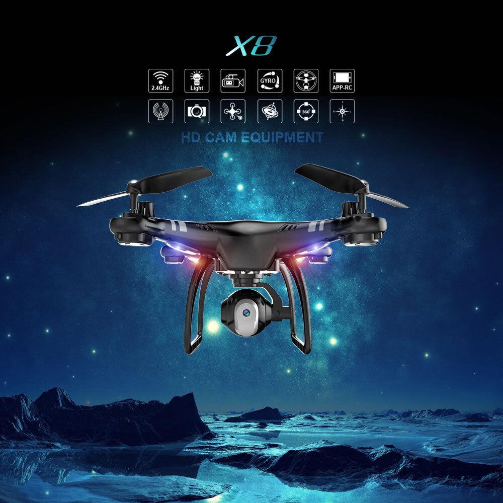 Drohnen mit hd - kamera 0.3mp rc quadcopter fpv telefon - app control wifi live - video