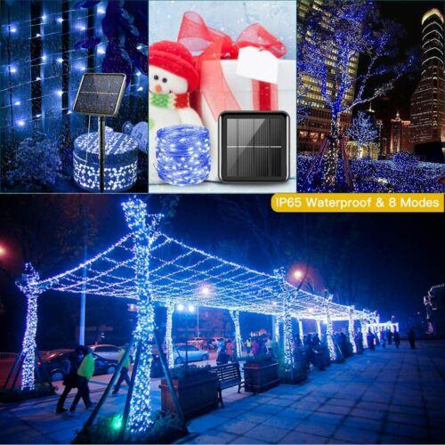 3 Pack 33FT 100 LED Solar Fairy String Lights Indoor//Outdoor Home Decor Lights