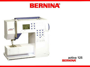 bernina activa 125 135 145 service parts workbook or instruction rh ebay com bernina activa 230 service manual bernina activa 130 service manual