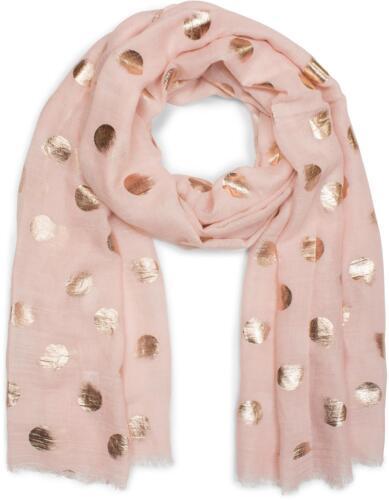 Glitzerschal unifarbener Schal mit Metallic Punkte Muster Tuch Fransen Damen