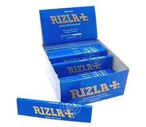 ORIGINAL-12-x-GENUINE-RIZLA-BLUE-KING-SIZE-SLIM-CIGARETTE-SMOKING-ROLLING-PAPERS