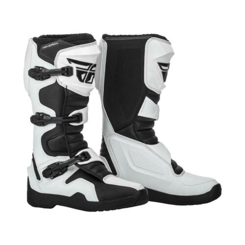 Fly Racing Maverik MX  Boots White Motocross Off-Road
