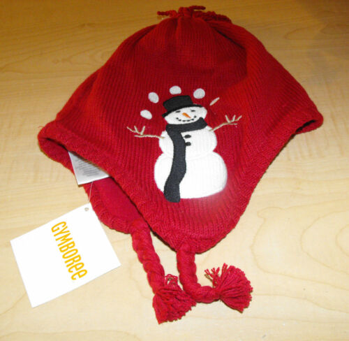 NWT Gymboree Snow Chillin/' RED Snowman Tassle Winter HAT Infant 0-12 mo OR 2T-3T