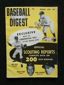 VINTAGE-March-1959-Baseball-Digest-Scouting-Reports-on-200-1959-Rookies