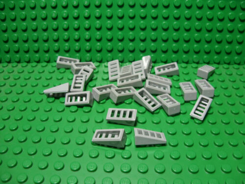 ** 25 CT LOT ** Lego NEW light bluish gray slope W// open slots pieces  Lot of 25