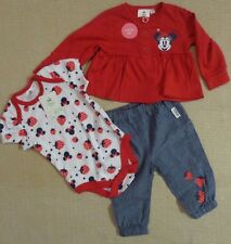 Disney Minnie Mouse 3pc Trouser Set -Girls Baby Cardy/Body Suit NEW~18-24 months