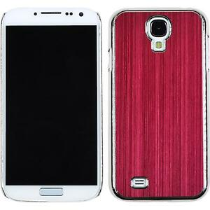 Coque-Rigide-Samsung-Galaxy-S4-metallique-rouge-films-de-protection