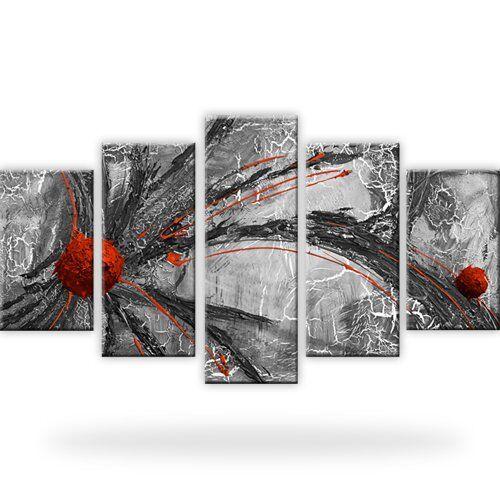Abstraktion Schwarz-Weiss Leinwandbilder Kunstdruck
