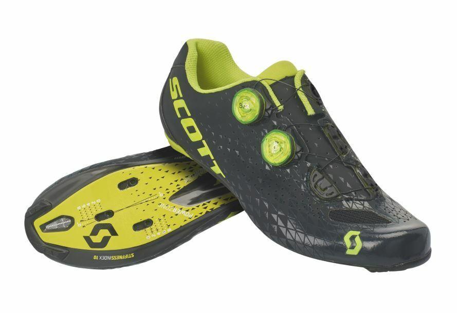 schuhe Scott road rc, Farbee schwarz sulphur Gelb taglia 41,5