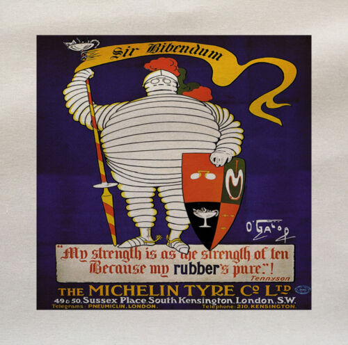 Michelin Knight Printed On Fabric Panel Make A Cushion Upholstery Craft