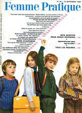 Femme Pratique n°78 septembre 1969 bien acheter pour mieux revendre art moderne