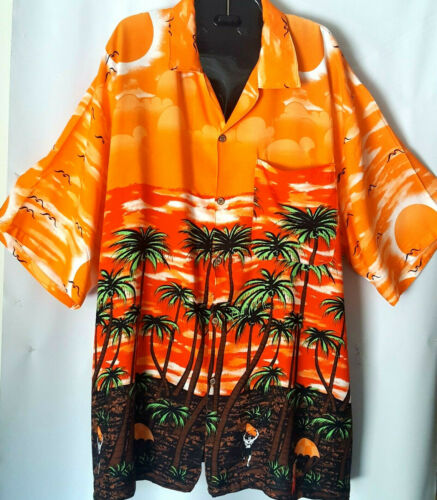 Mens Vtg 80s Paradise Found 1X Hawaii Cabana Set S