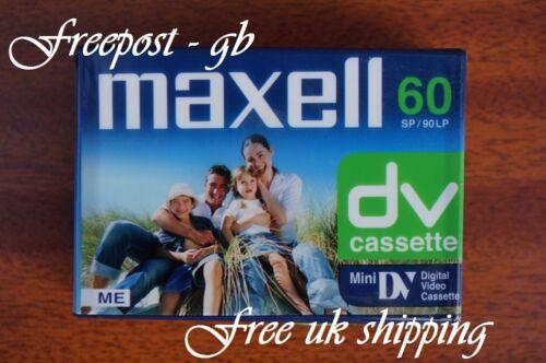 Un Super calidad MAXELL DVM-60SE Videocámara Mini DV Digital Cinta//Cassette