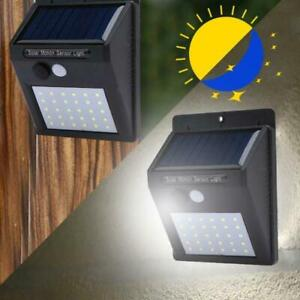20-48LED-Solar-Luz-Pared-PIR-Sensor-de-Movimiento-Lampara-Exterior-Impermeable