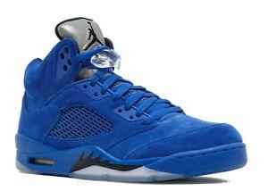136027 Nike azul 5 V Juego Royal Ds 401 gamuza Jordan Retro Black de 2017 Nuevo Air w6PSEq