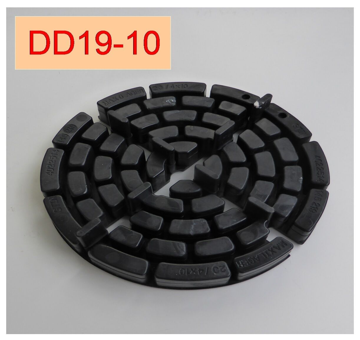 120 Plattenlager DD19-10, 20mm hoch, Steghöhe 10mm, Fuge 4mm, 150mm Durchm. ,,