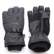 Men Waterproof Thinsulate Ski Snowboard Gloves Winter Warm Gloves Black L